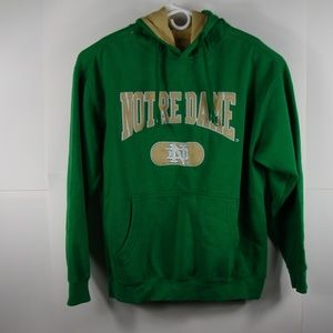 Mens L Embroidered Notre Dame Hoodie Pullover